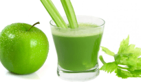 Lose weight with celery and green apple juice