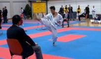 This is Mae Geri Kekomi or Front Thrusting Kick