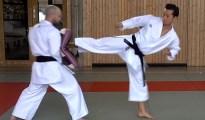 This is Yoko Geri Kekomi - Side Thrust Kick