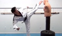This is a Rear Foot Hook Kick