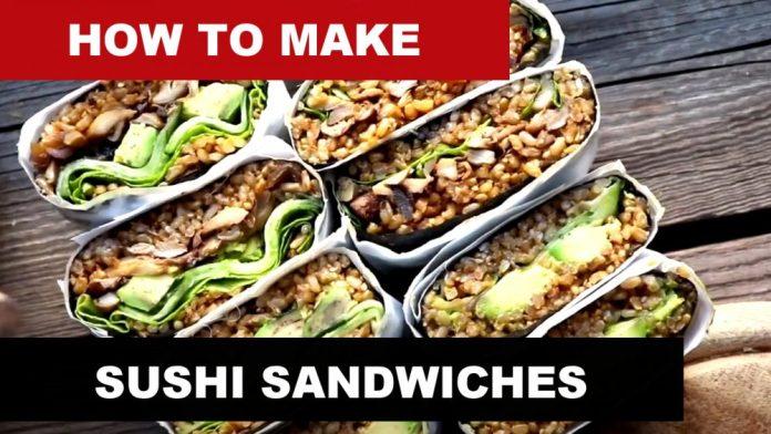 Sushi Sandwiches also known as Onigirazu