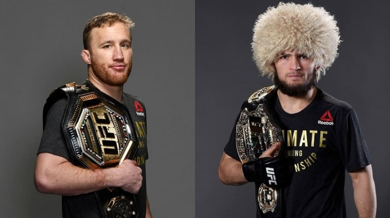 Named the date of the fight Khabib Nurmagomedov and Justin Gaethje