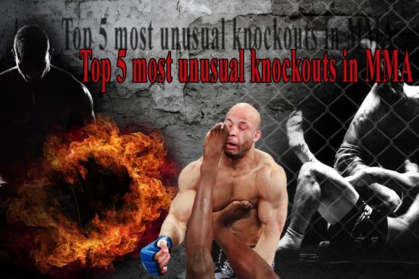 Top 5 most unusual knockouts in MMA in my opinion.