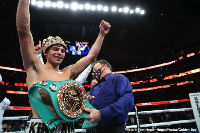 Ryan Garcia said that in the next fight he could fight with an eminent opponent.