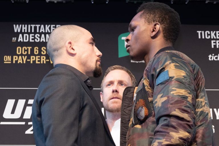 Robert Whittaker wants a rematch with Israel Adesanya