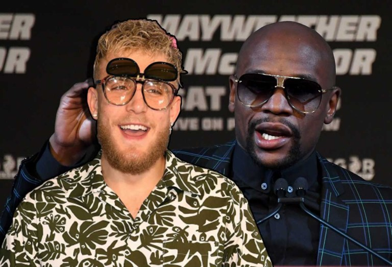 Jake Paul trolls Floyd Mayweather during his Clubhouse interview | Video