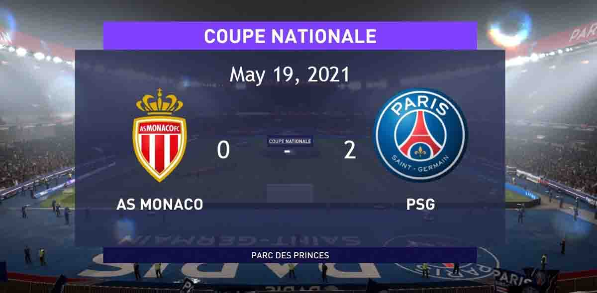 PSG WON THE FRANCE CUP FOR THE 14TH TIME, BEATING IN THE FINALS OF MONACO