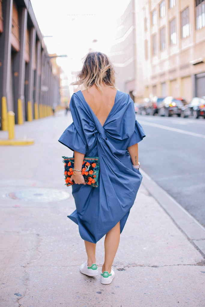 Knot back dress and Chicago Fashion Blogger