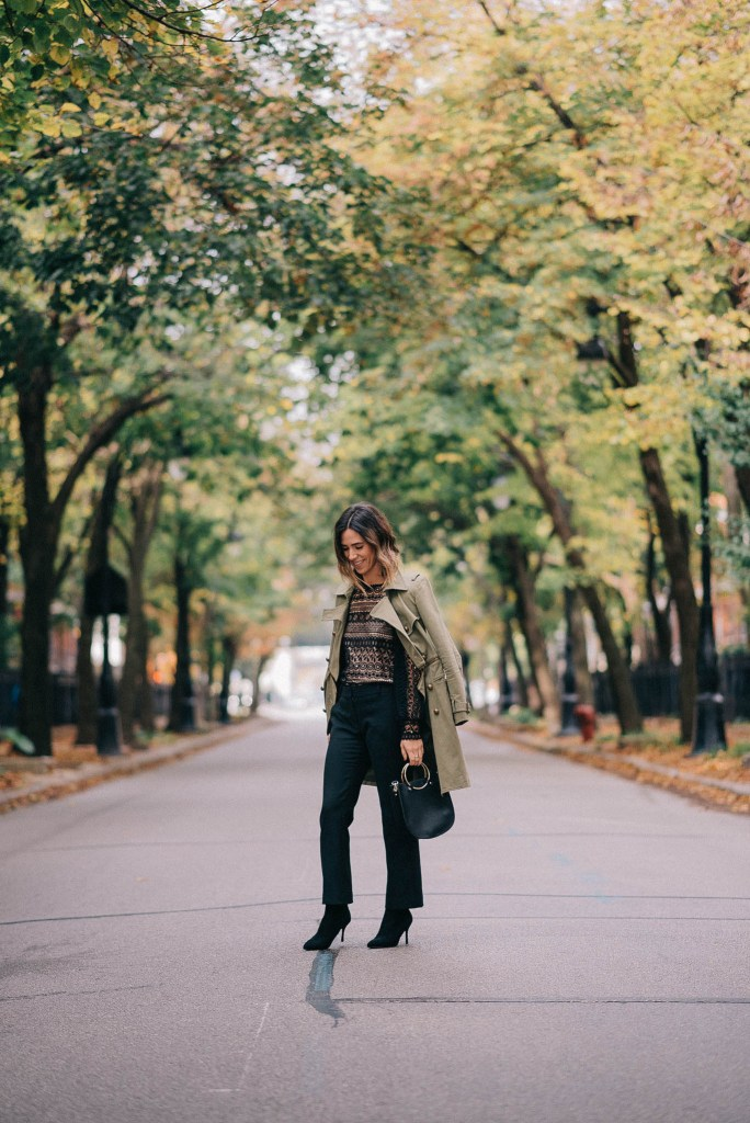 Lace Cut out Blouse and Chicago Fashion Blogger