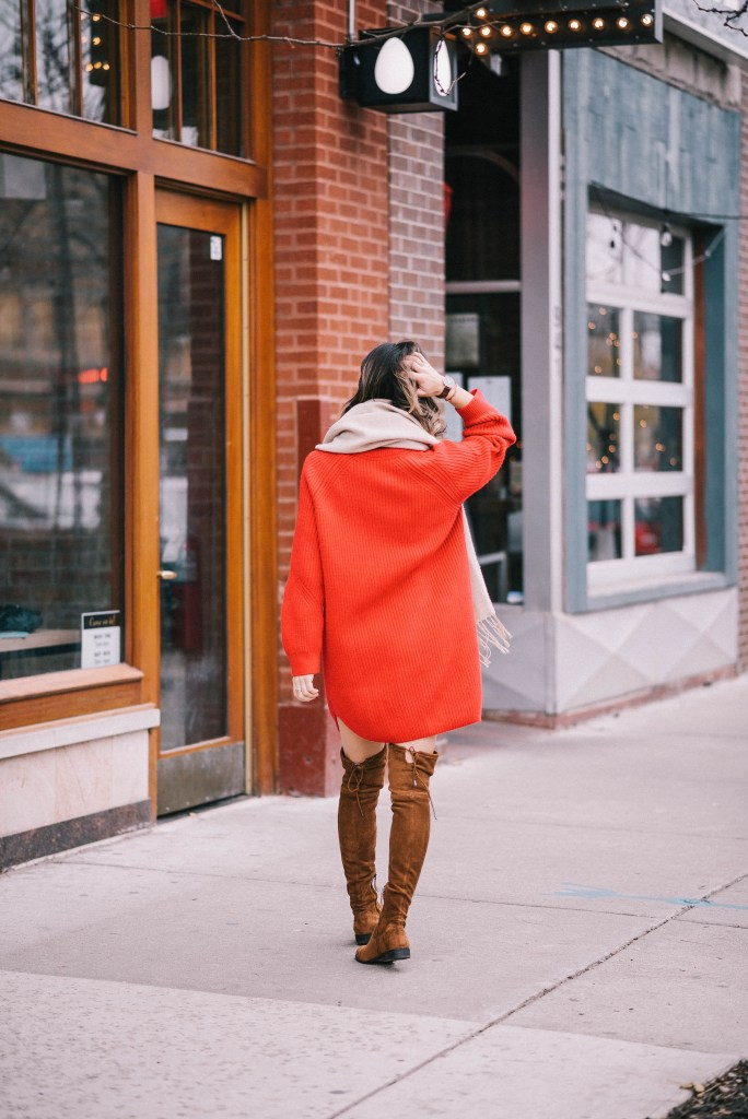 Favorite December Holiday Looks and Red Oversized jumper