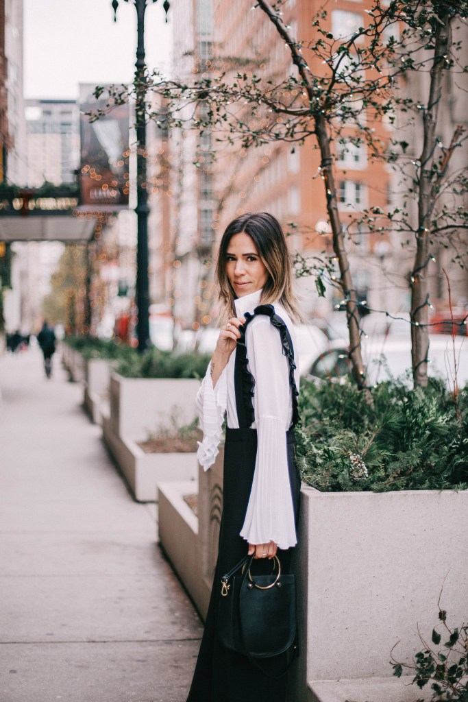 Pleated Chiffon Sleeve Blouse and Chicago Fashion Blogger