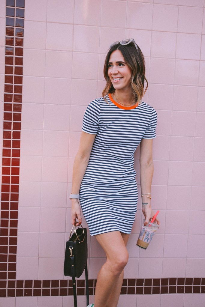 Alfred's Tea Room and Game Day Striped Dress