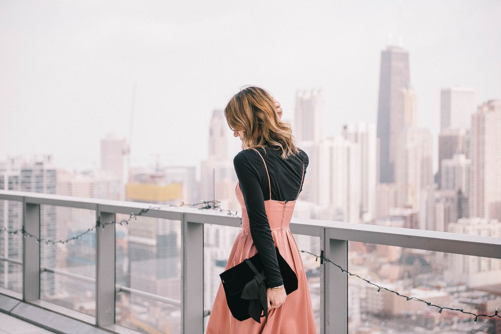 Silk Cami Dress and Chicago Fashion Blogger