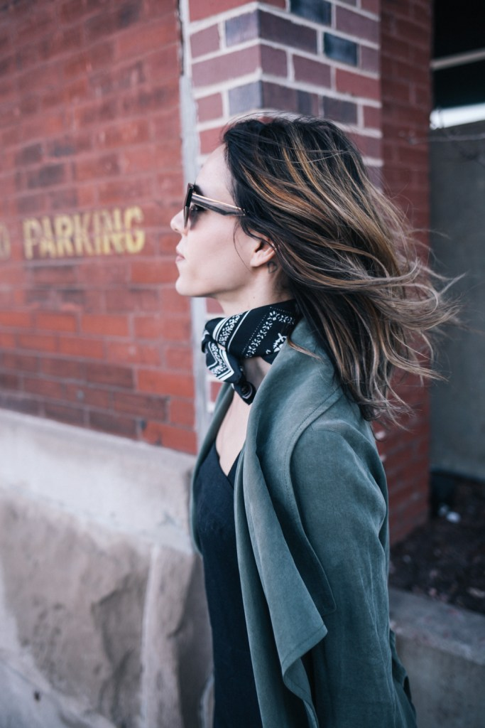 Blogger Mary Krosnjar with Short Hair Ombre and NYFW Club Monaco Collection