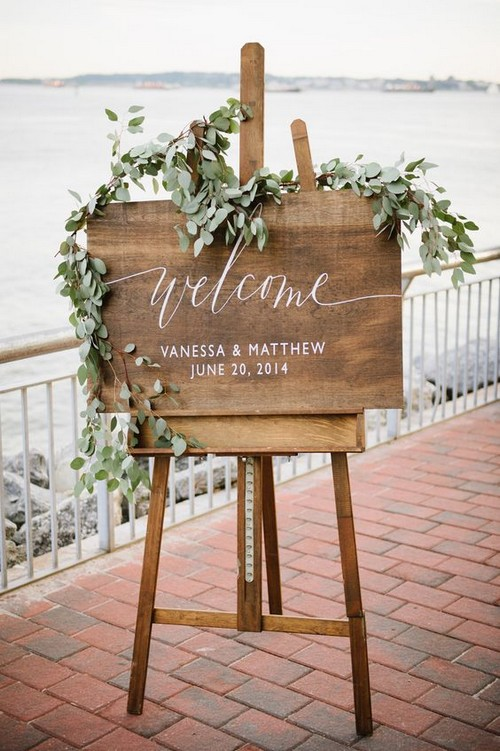 Wedding Guest Etiquette and wedding welcome sign