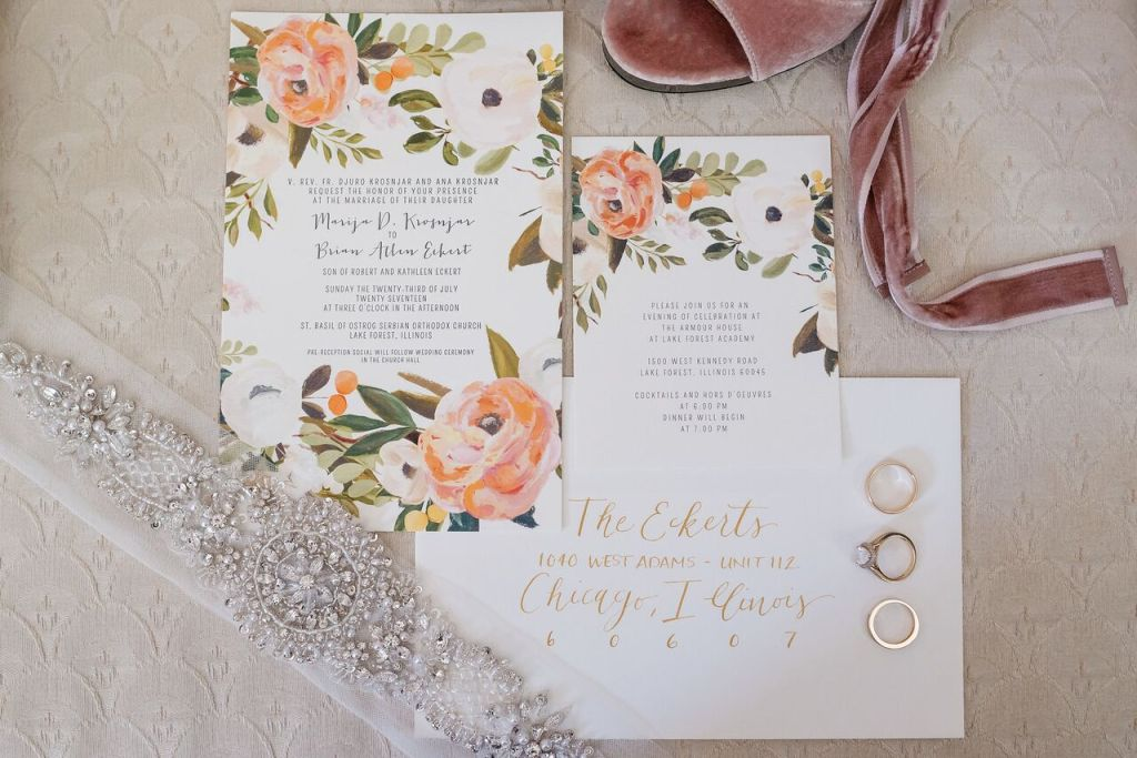 Ashely Cooper Designs + Floral Wedding Invites