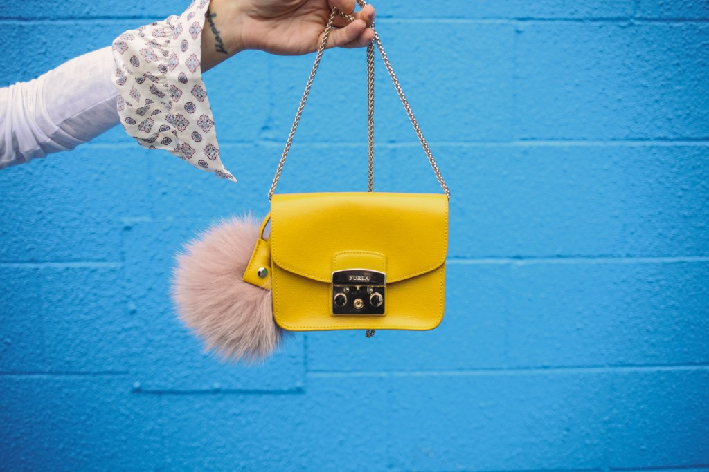 Blogger Mary Krosnjar Furla Metropolis Mini Cross Body Bag