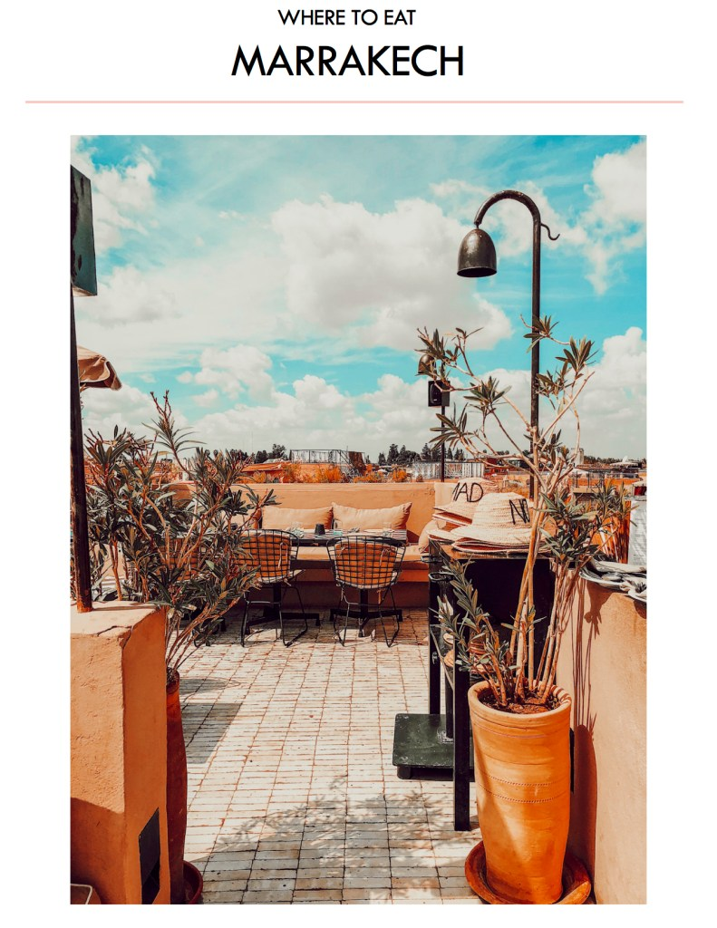 Blogger Mary Krosnjar Where to eat in Marrakech