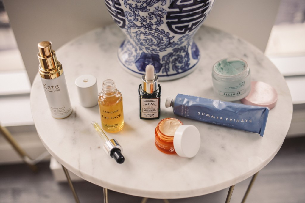 Summer Friday Jet Lag Mask and Tan Luxe the face