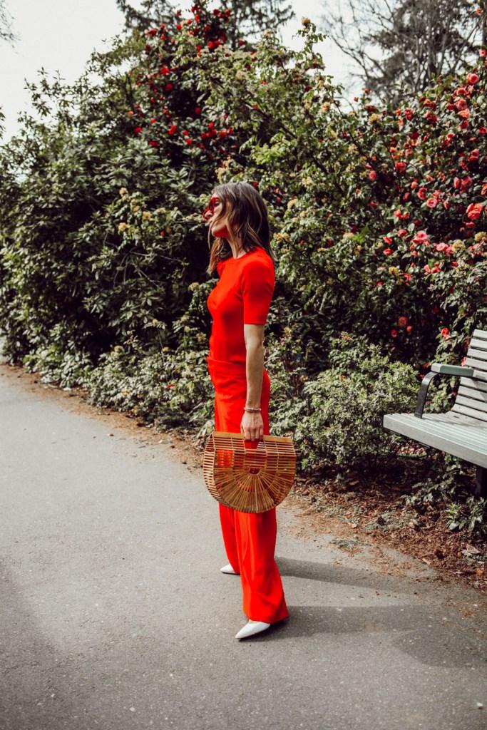 Seattle Fashion Blogger Sportsanista wearing Red Monochromatic Look