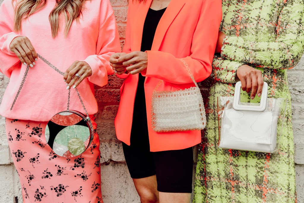 Seattle Fashion Blogger Sportsanista wearing Sam Edelman Violet Mini Bag and Ultra Brights