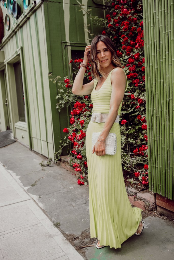 Seattle Fashion Blogger Sportsanista wearing Michaela Dress Mara Hoffman and Beaded Bag for Summer
