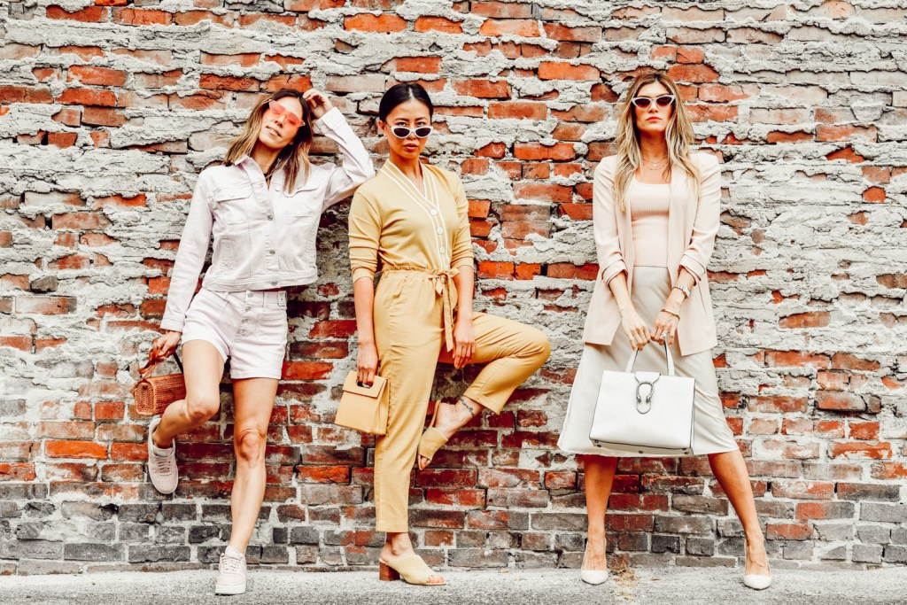 Seattle Stylelogue bloggers sharing summer monochromatic looks three ways