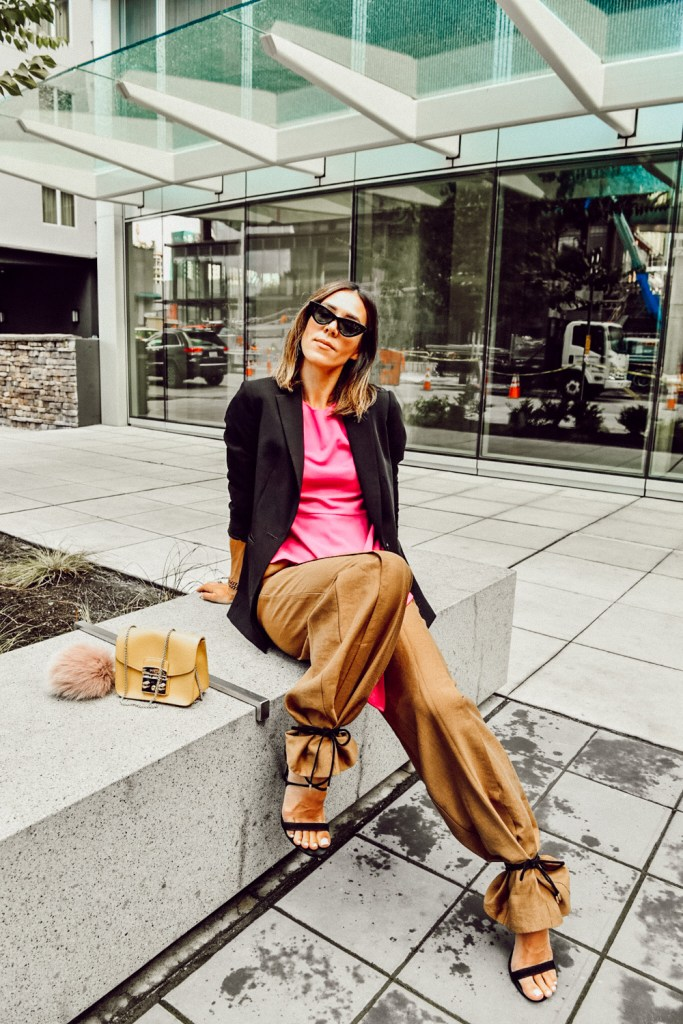 Seattle Fashion Blogger Sportsanista wearing Asymmetric Fashion for Work