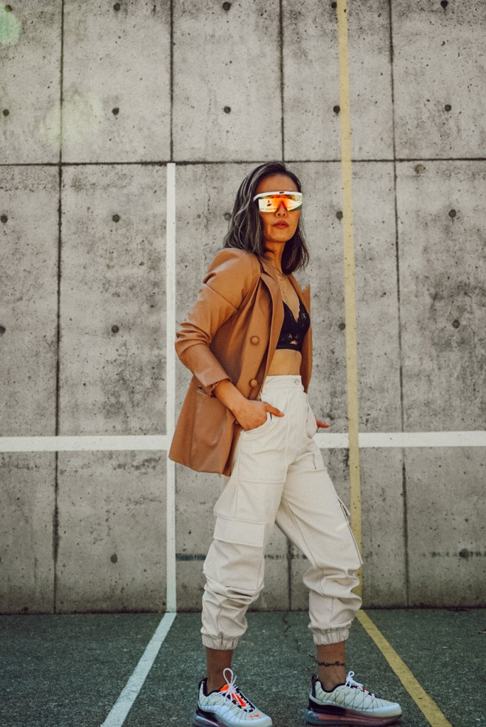 How to style a faux leather blazer