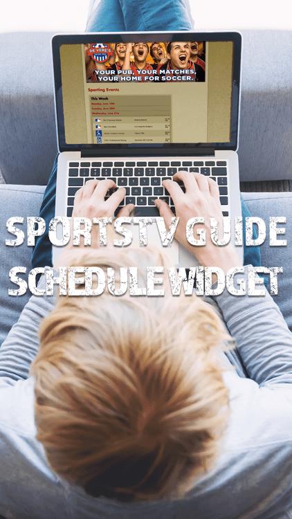SportsTV Guide Schedule Widget