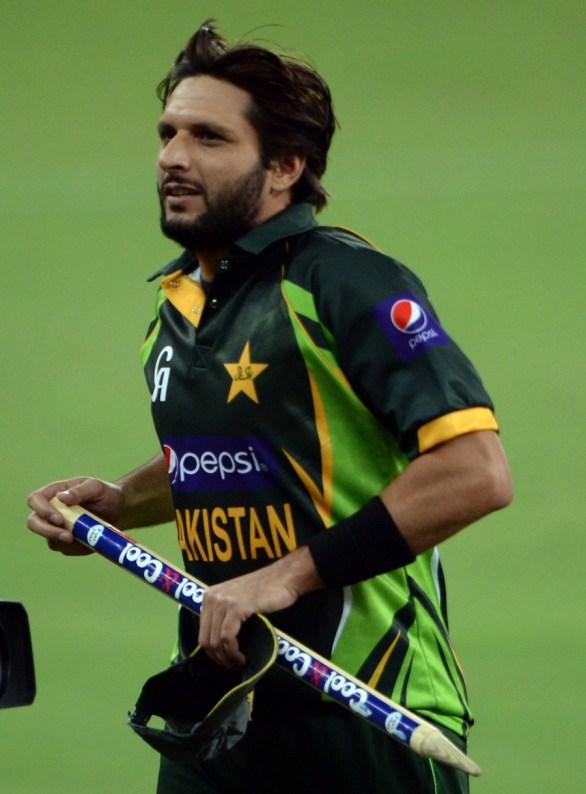 Pakistani cricketer Shahid Afridi