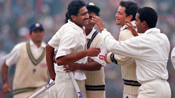 anil kumble's 10 wickets