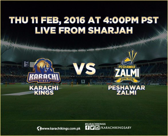 PSL 2016 10th Match, Karachi Kings vs Peshawar Zalmi [Video Highlights]