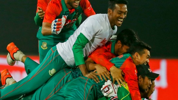 Bangladesh Celebrates The Win Against Pakistan