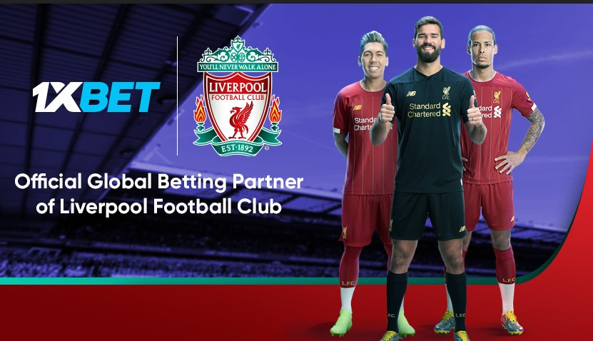 1xbet partners with liverpool