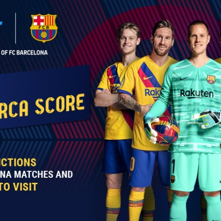 Guess the score of FC Barcelona's next match and get a chance to attend the game at Camp Nou!