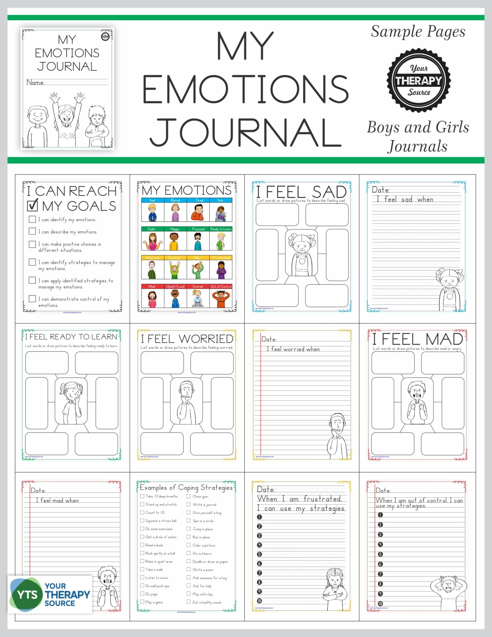 20 Feelings Worksheets For Adults