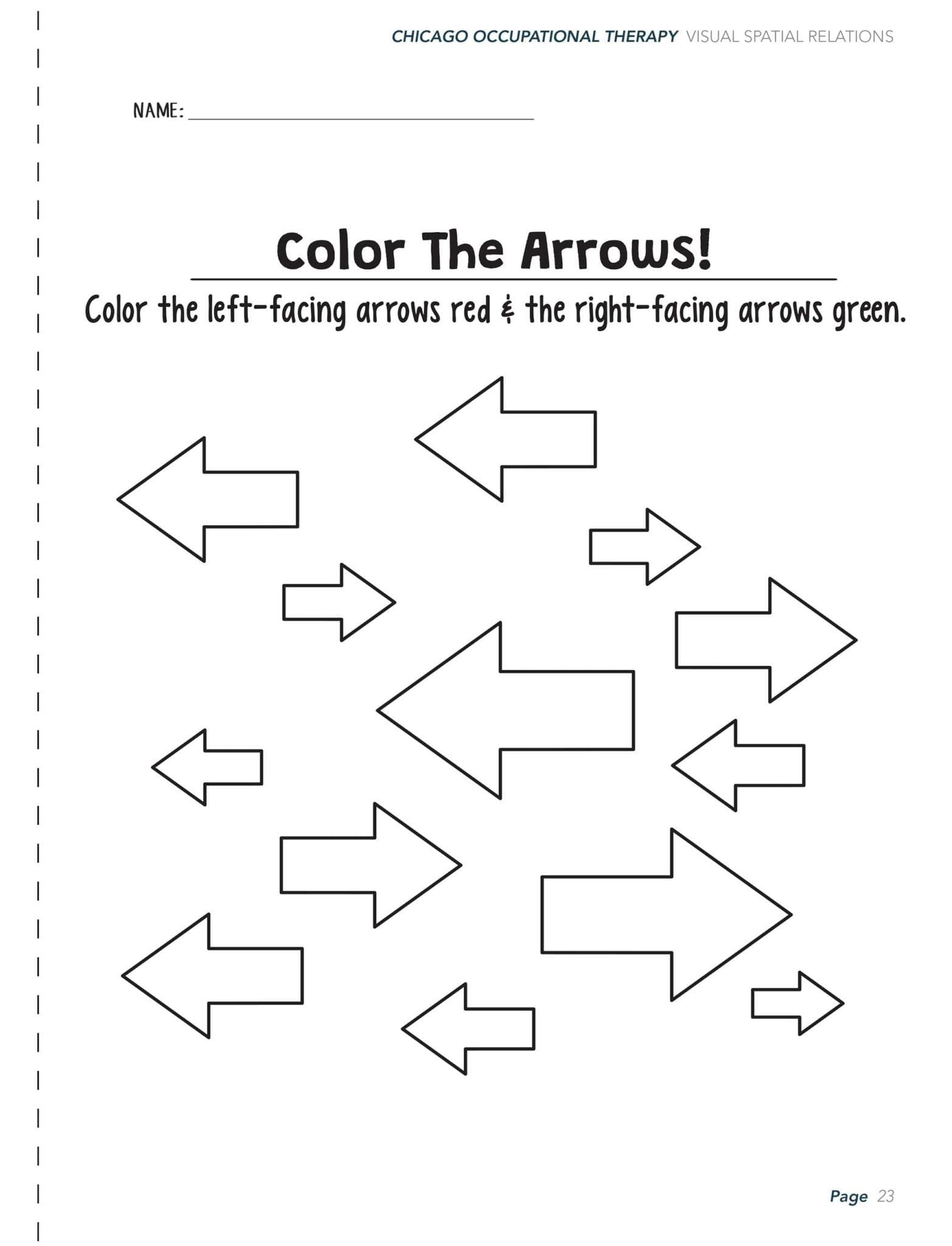 20 Spatial Relations Worksheets