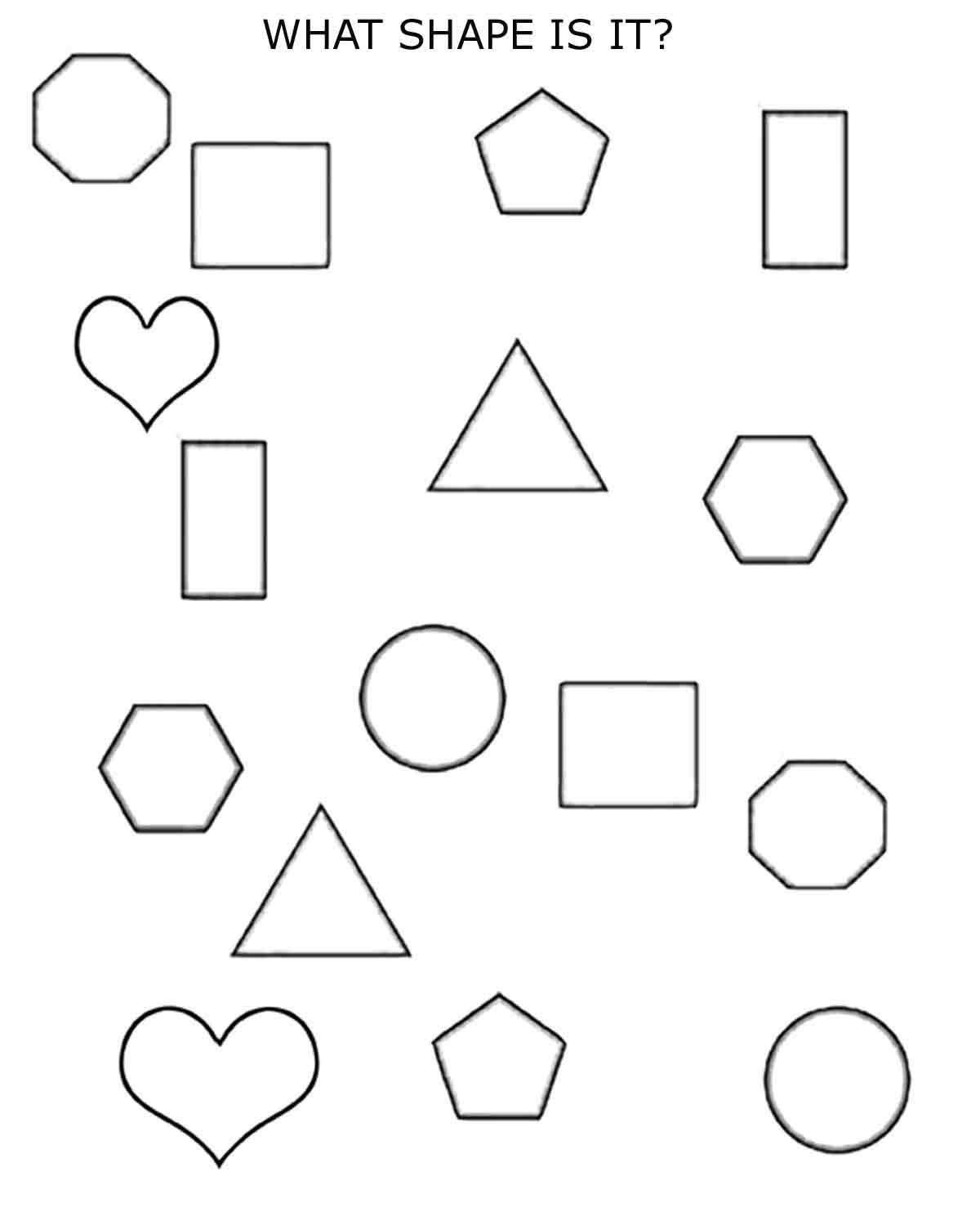 Shapes Worksheets 1st Grade N On N O