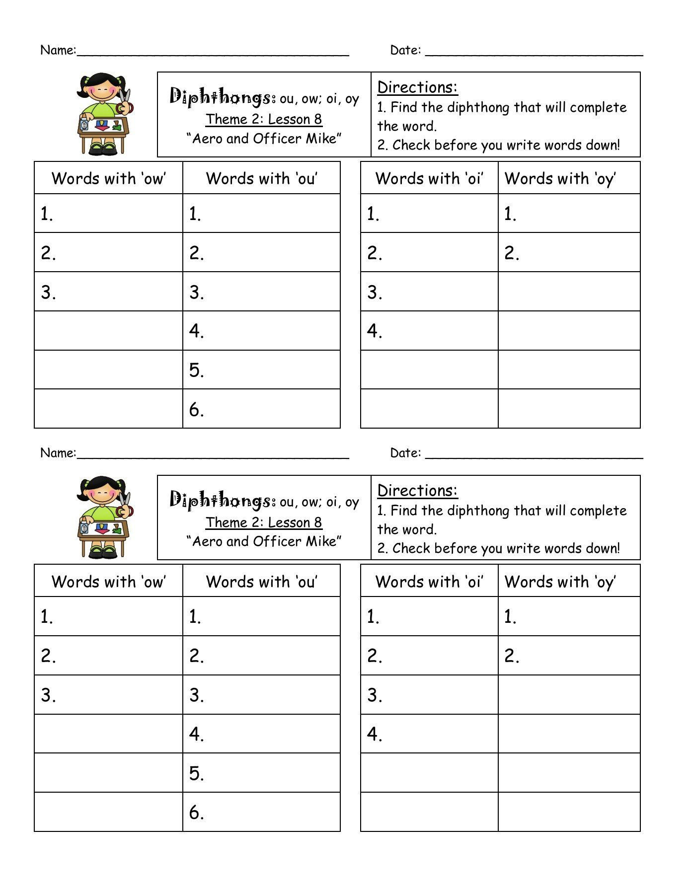 Oi And Oy Phonics Worksheets Printable Worksheets And Activities For Teachers Parents Tutors And Homeschool Families