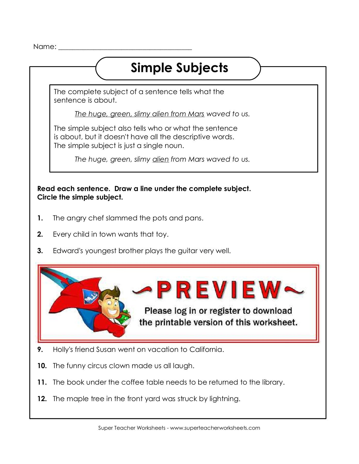 20 Super Teachers Worksheets Login
