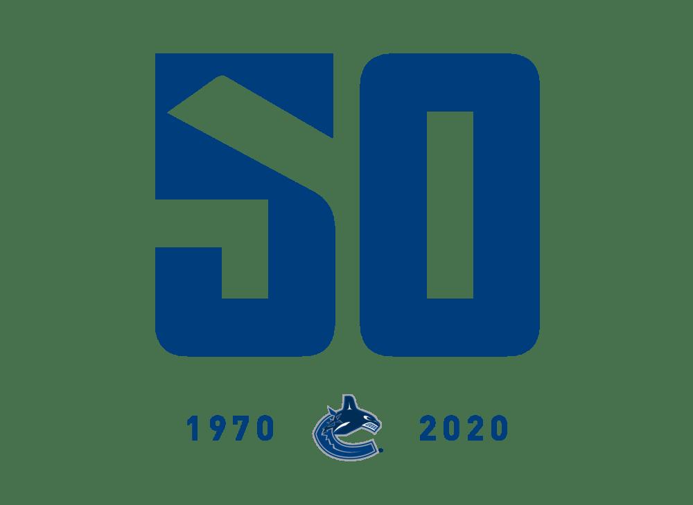 Canucks 50 Logo White