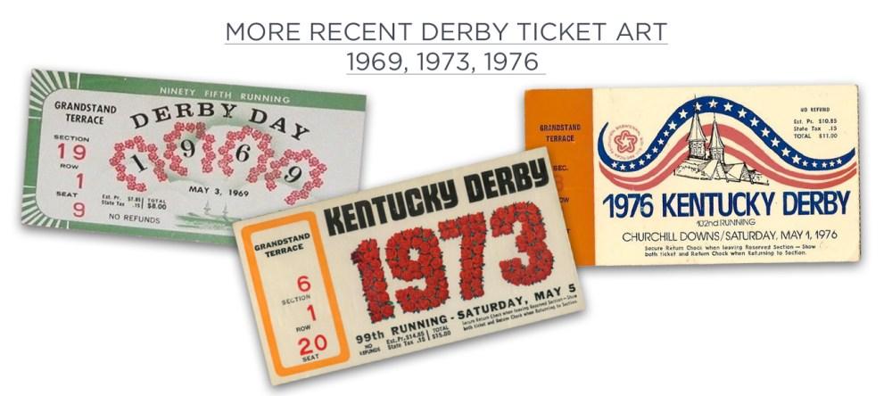 More Recent Derby Tickets
