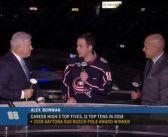 NASCAR driver Alex Bowman caps Columbus visit with Blue Jackets game