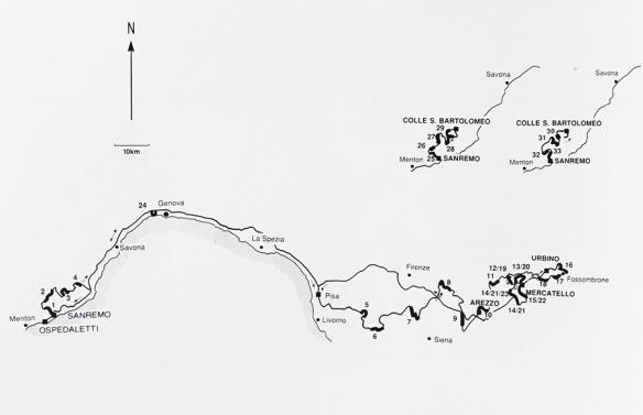 31° Rallye Sanremo - Percorso