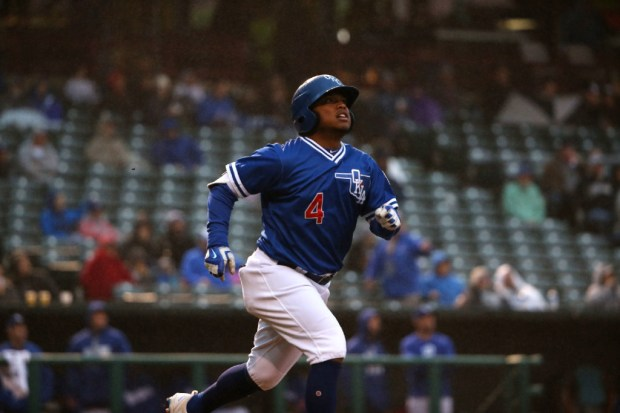 Willie Calhoun runs the bases for the Oklahoma City Dodgers. Calhoun joined the Rangers' minor league system July 31,2017, as part of the Rangers trade that sent Yu Darvish to the Los Angeles Dodgers. (Photo by Oklahoma City Dodgers)