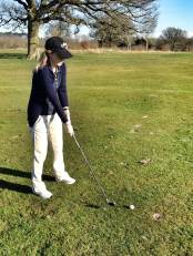Golf pro in the making