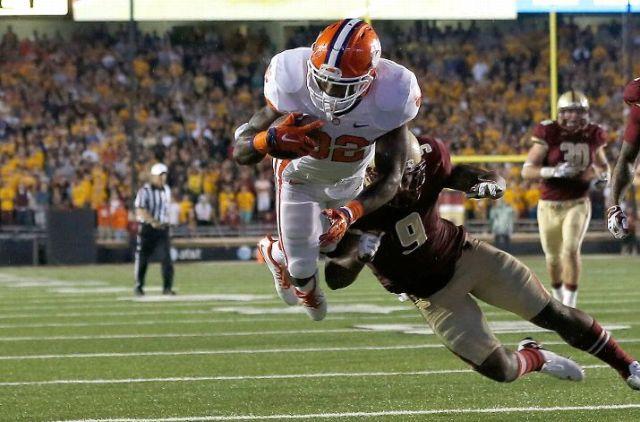 C.J. Davidson scored the game winning touchdown for Clemson (Jim Rogash/Getty Images)