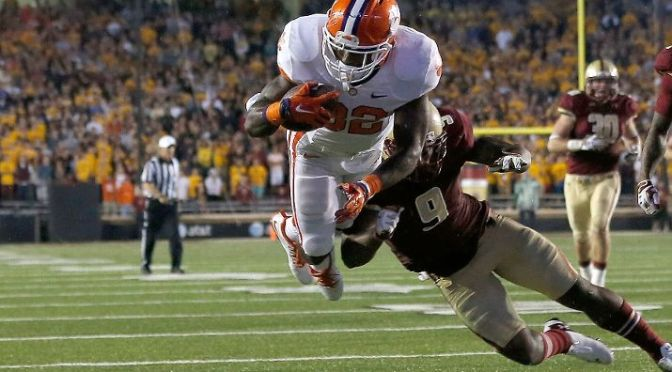 Clemson Survives On The Road Against Boston College
