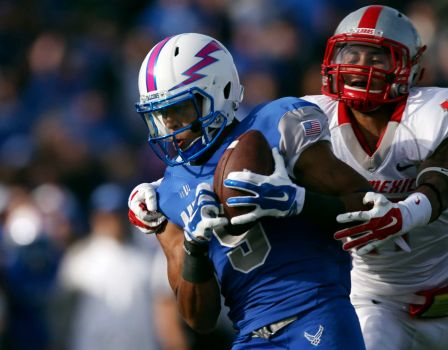 Jalen Robinette caught 4 passes for 96 yards and a touchdown (David Zalubowski/AP Photo)